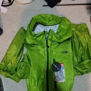 The north face rain jacket hoodie
